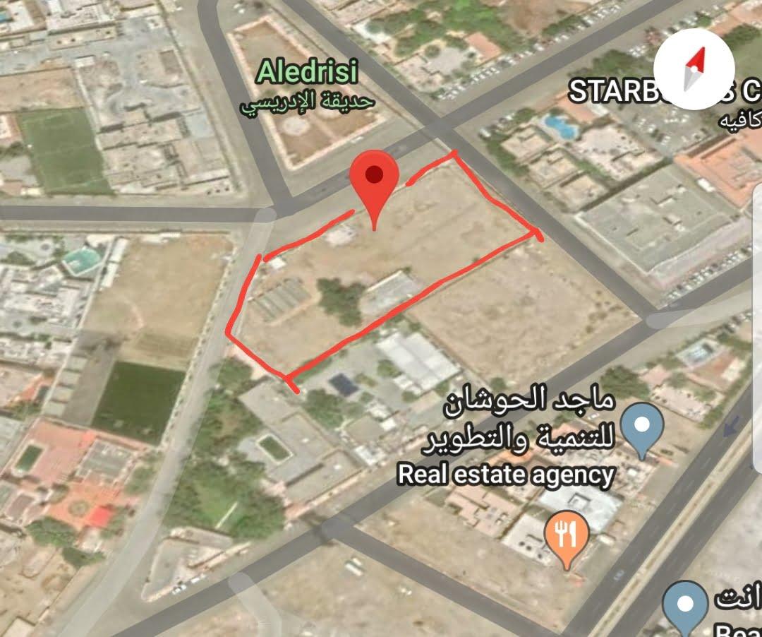 للبيع ارض سكنية 5447م حي المرجان جدة