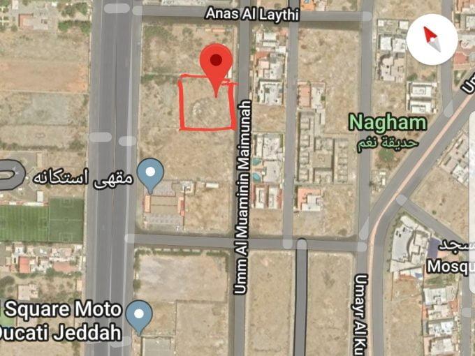 للبيع ارض سكنية 2500م حي ابحر الجنوبية جدة